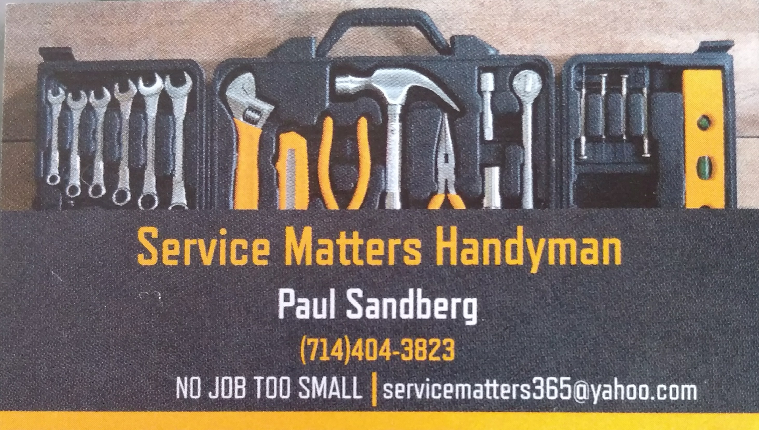 Service Matters Handyman services