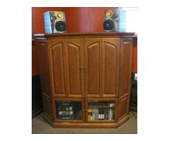 Beautiful Oak Media/Entertainment Center Unit - Great Condition!