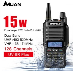 Baofeng 15-WATT Waterproof Walkie Talkie Dual Band FM Transceiver