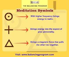 Meditation Symbol at balancing program-Get balanced