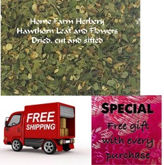 Hawthorn Leaf and Flowers, Dried, Order now FREE shipping & get a free gift