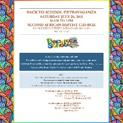 Second African Baptist Church Back To School Extravaganza