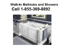 Call 1-855-369-8892 ​Walk-in Bathtubs and Hydrotherapy Showers
