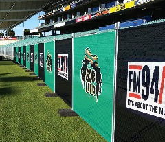 Catch the Attention at stadiums, playgrounds & Concerts with JD's Fence Wraps
