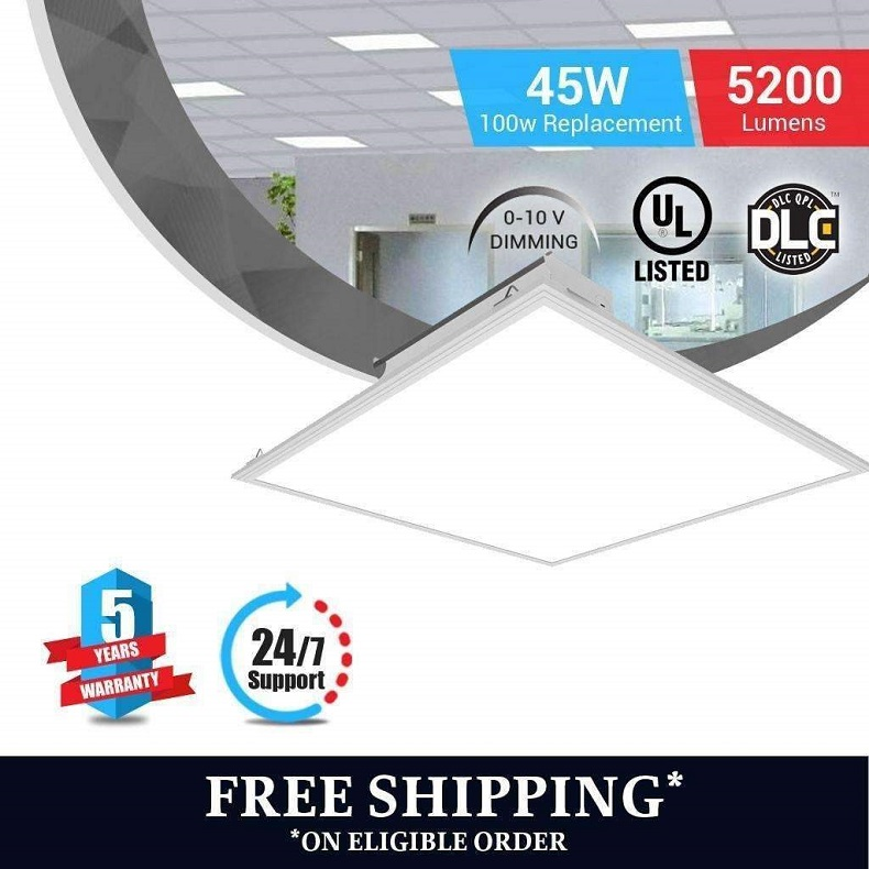 LED Panel 2x2 45W 4000K Dimmable - LEDMyplace