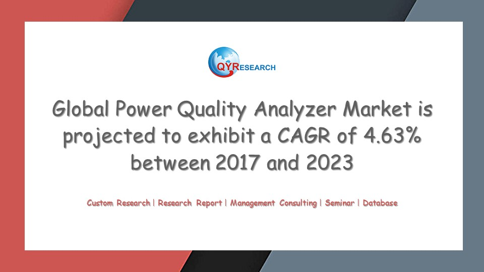 Global Power Quality Analyzer Market is projected to exhibit a CAGR of 4.63% between 2017 and 2023
