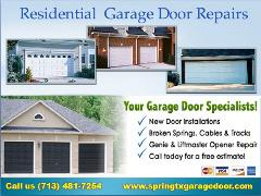 Starting $25.95 Garage Door Repair Service Spring, Houston TX
