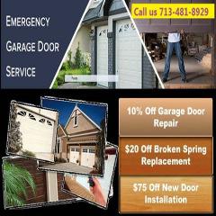 Professional Garage Door Repair Service $25.95 in Houston TX