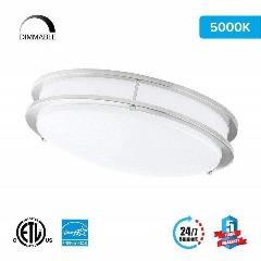 LED Double Ring 12in. Flush Mount - 14 Watt - Dimmable - 5000K - 1100