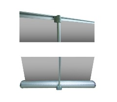 Deluxe Banner Stand, 6' Custom Printed Table Cloth & Business Cards Special