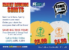 Comik Ink's Big Family Reunion T-shirt Sale!!! Don't Miss This Incredible Summer Deal!!!!!