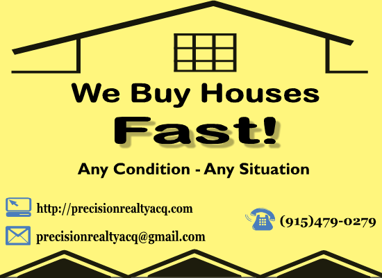 Let Me Solve Your Real Estate Needs! ANY CONDITION , ANY REASON!!