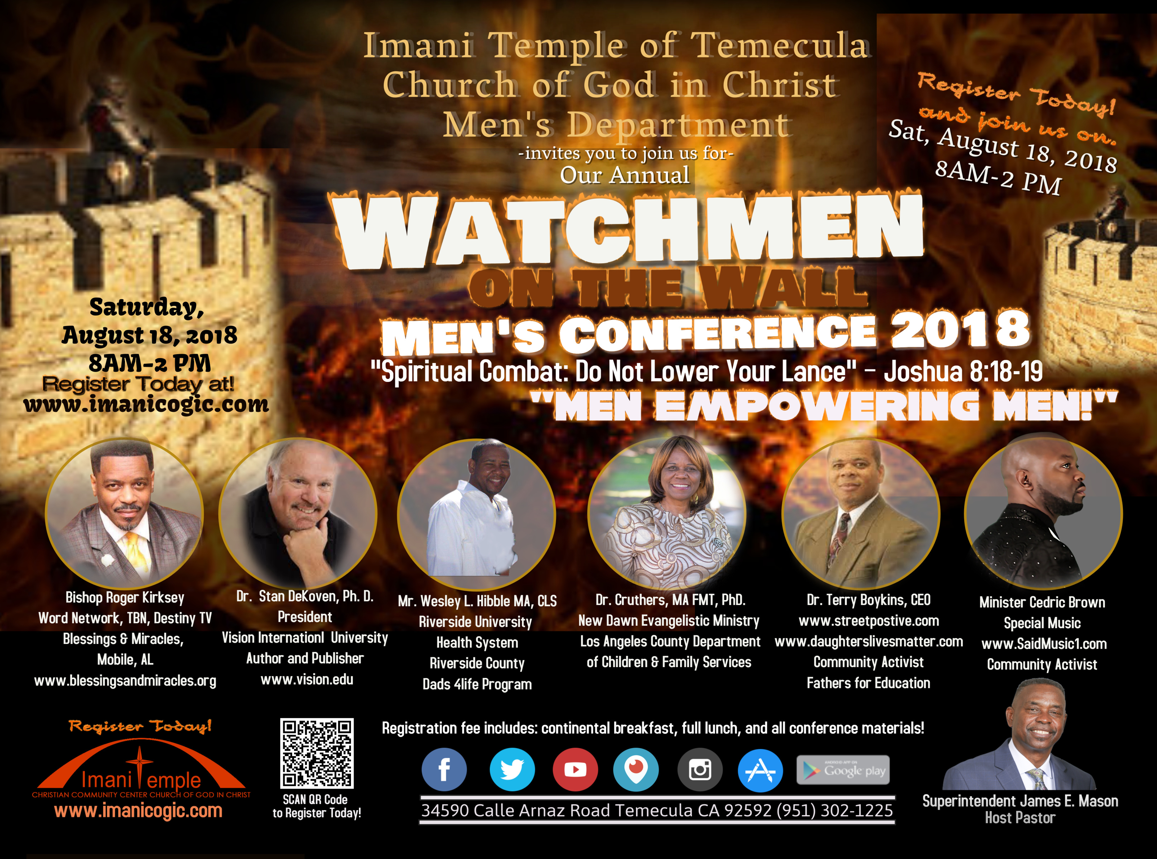 Men's Conference: Watchmen of the Wall Men's Conference!