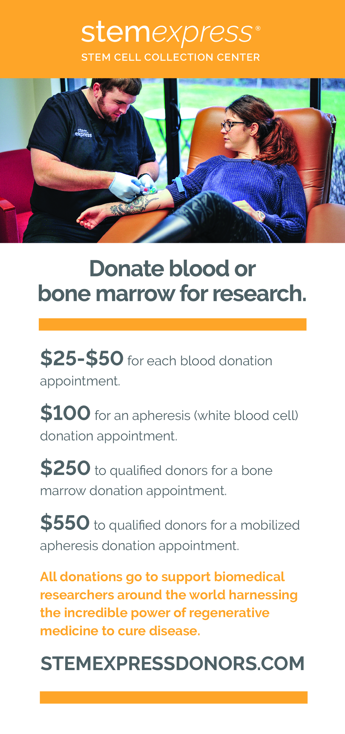 Help advance science and get paid!  $25 - $550