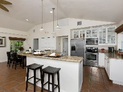 Beautifully remodeled beach house with pool, guest cottage & private beach