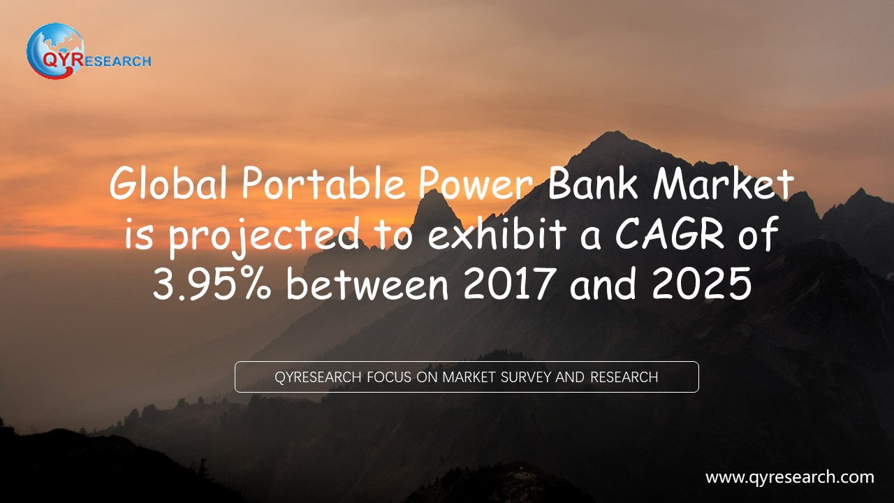 Global Portable Power Bank Market is projected to exhibit a CAGR of 3.95% between 2017 and 2025