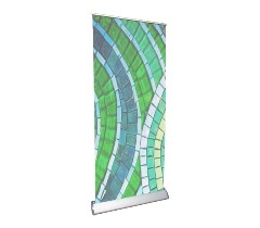 """33"""" x 81"""" Deluxe Retractable Banner Stand With Film"""
