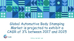 Global Automotive Body Stamping Market is projected to exhibit a CAGR of 3% between 2017 and 2025