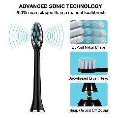 NPET Electric Toothbrush, Rechargeable IPX7 Waterproof Sonic Toothbrush
