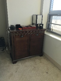 Crosley Furniture Lydia Two-Compartment Linen Hamper - Espresso - $80