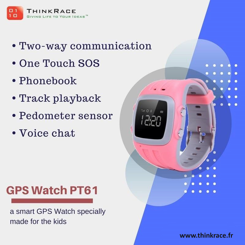 GPS smart watch PT61 –advanced technology meets safety!