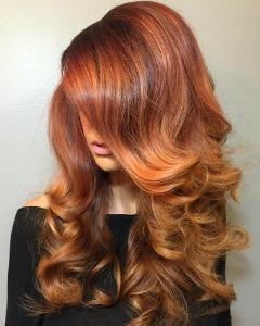 Hair colors trending in summer 2018