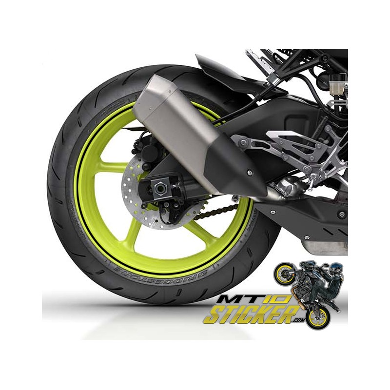 Yamaha MT10 6mm Wheels stripes (WS1)