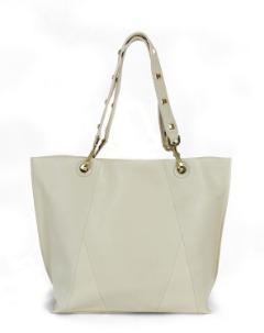 Bolsa Nova Tote in bone - Best leather handbags for women online new york