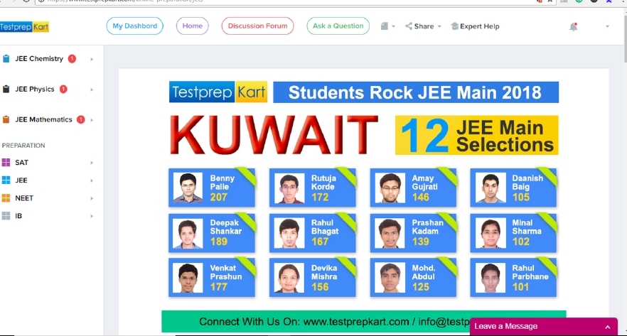 Are you looking for JEE free preparation online
