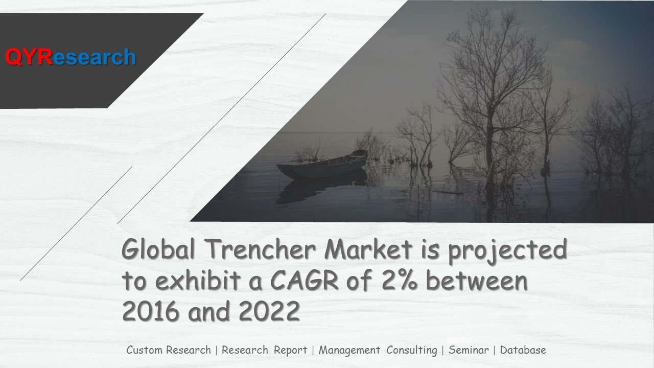 Global Trencher Market is projected to exhibit a CAGR of 2% between 2016 and 2022