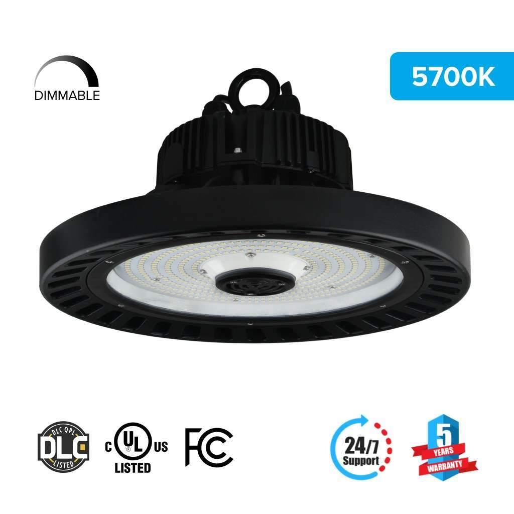 LED High Bay UFO Lights, 240W 5700k 31000 Lumens / Warehouse Lighting