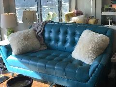 Joybird Fitzgerald Leather Loveseat
