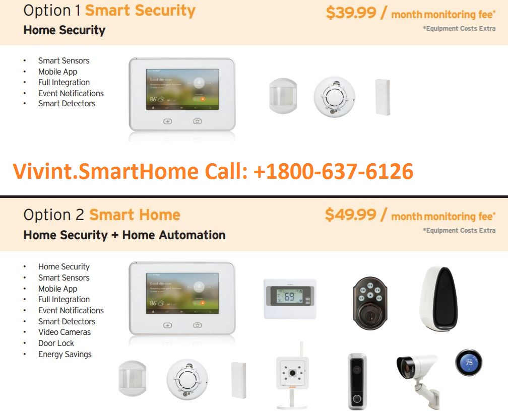 VIVINT HOME SECURITY 1800-637-6126 FREE EQUIPMENTS WORTH $1500