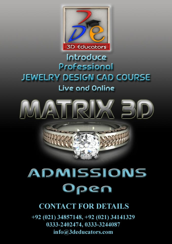 Jewelry Design Cad Course in Karachi and Pakistan