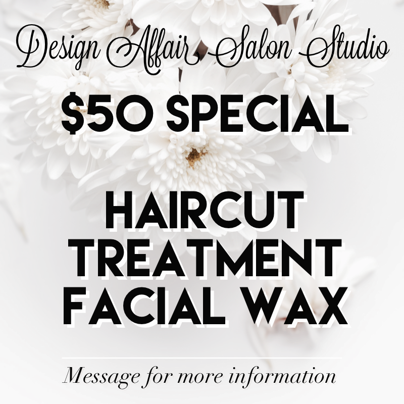 Haircut, Treatment & Facial Waxing