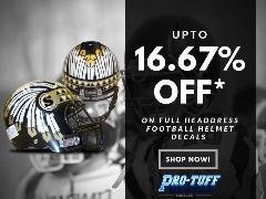 Buy Best Quality Full Headdress Football Helmet Decals