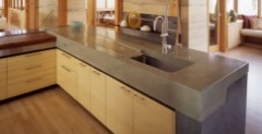 get natural concrete directly on top of your existing countertops...