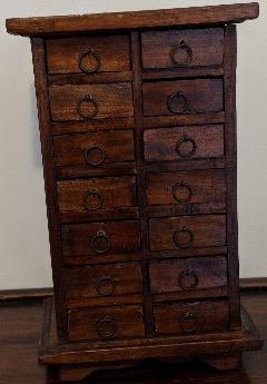 14 Drawer Desk Storage Or Jewelry/Trinket Holder