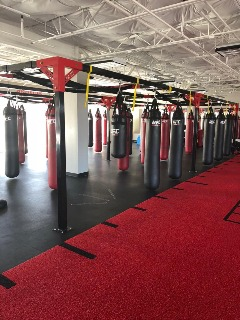 Pre-Owned UFC Heavy Bags and Rack
