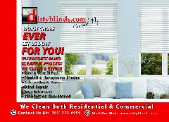 DO YOU HAVE DIRTY BLINDS??