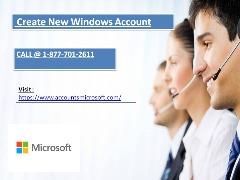Create New Windows Account | Call @ 1-877-701-2611