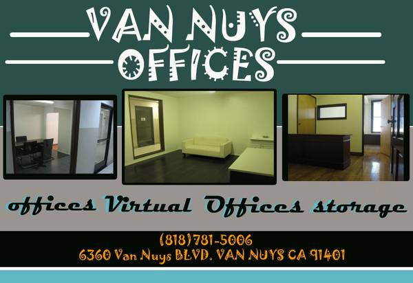 Van Nuys Offices $195 A Mo.
