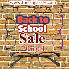 Back to school sale eyeglasses, prescription glasses