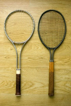 "Vintage ""Woody""Tennis Racket"