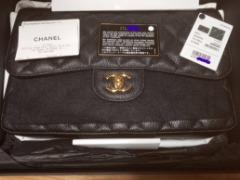 BRAND NEW 2017 AUTH Chanel JUMBO Caviar Double Flap w/receipt &tag