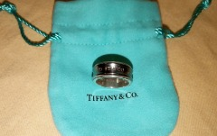 AUTHENTIC Tiffany &Co. Sterling Silver 1837 BAND Ring