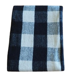 New fashionable black and white checkered blanket