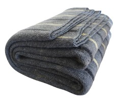 Soft and warm gray wool blankets for winter days