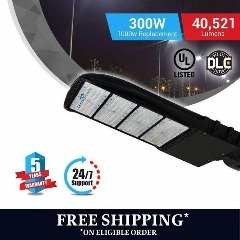 Brightest LED Pole Light 300 Watt- Lower Price & High Efficiency.