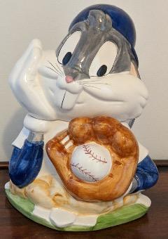 Vintage Bugs Buny Baseball Warner Bros Cookie Jar 1993